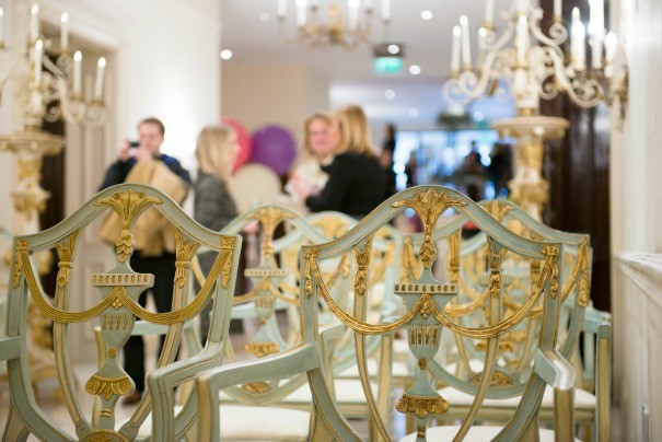 Dining chairs available to hire for weddings as photographed by Carey Sheffield.