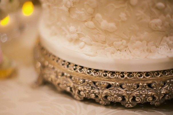 The fine detail on one of our silver cake stands as photographed by Kate Nielen