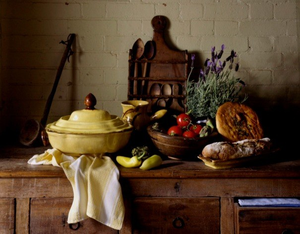 Martin Brigdale's still life using pieces from our rustic French kitchen department