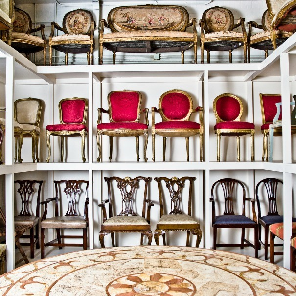 A sample of each of the dining chairs available to hire from Farley Prop Hire as photographed by Nat Davies.