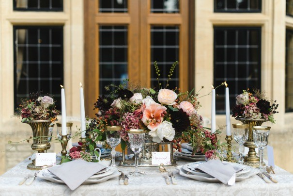 Dining table props for hire, as photographed by Weddings By Nicola and Glen.