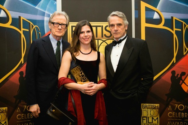 Spotlighting New Talent winner Alina Papp with Bill Nighy and Jeremy Irons