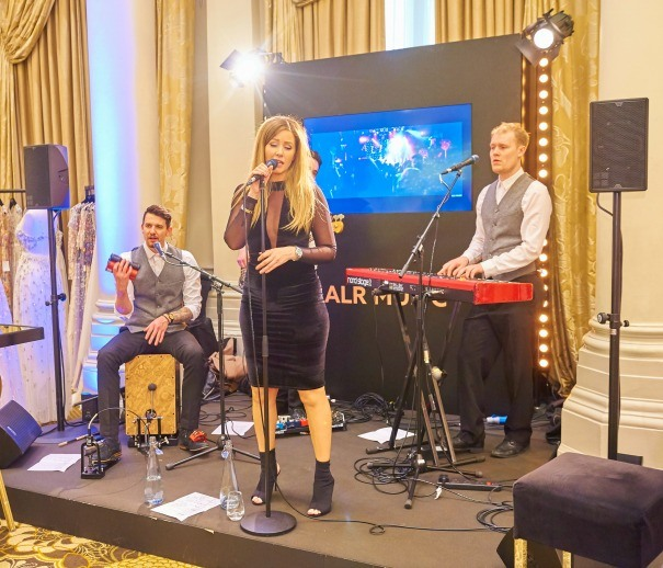 ALR music perform in The Langham Ballroom for the Quintessentially Wedding Atelier