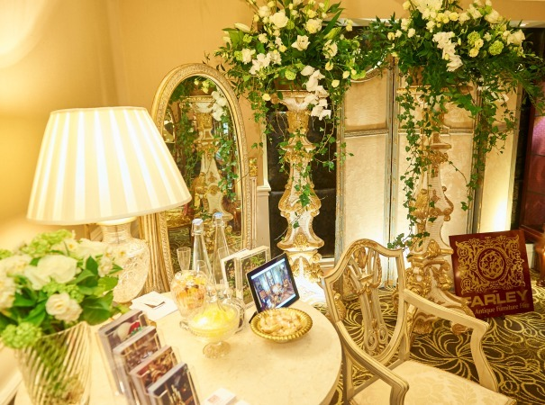 Farley Prop Hire style the Quintessentially Wedding Atelier at The Langham Hotel
