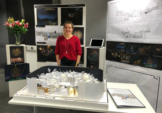 Eve Finnie in front of her winning presentation